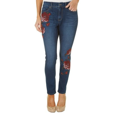 Gloria Vanderbilt Womens Jessa Embroidered Jeans