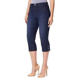 Gloria Vanderbilt Womens Violet Slim Denim Capris