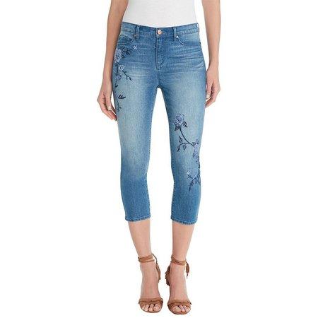 New! Gloria Vanderbilt Womens Jordyn Denim Capri Pants