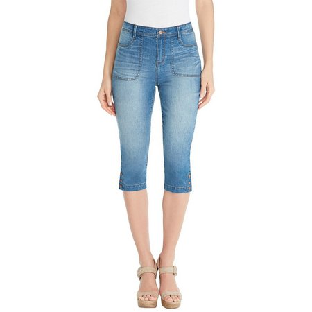 New! Gloria Vanderbilt Womens Amelie Denim Capris