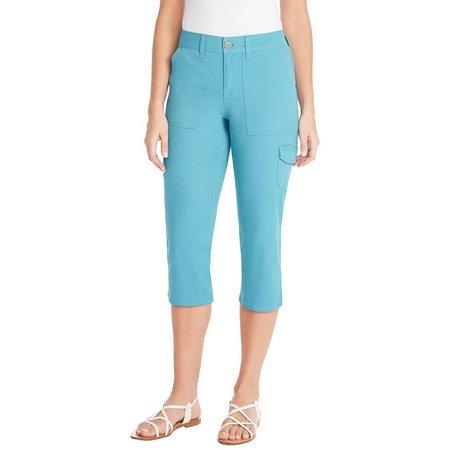Gloria Vanderbilt Womens Amanda Solid Capris Pants