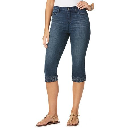 Gloria Vanderbilt Womens Alex Cuffed Denim Capris