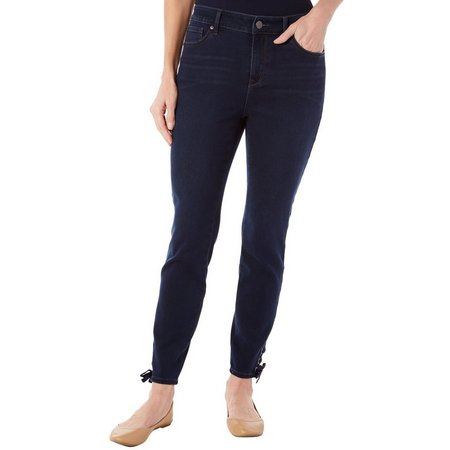 Gloria Vanderbilt Womens Alexandra Lace Hem Jeans