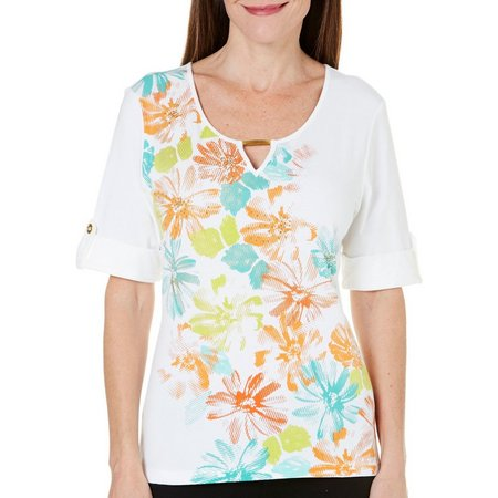 New! Hearts of Palm Womens Roll Sleeved Island
