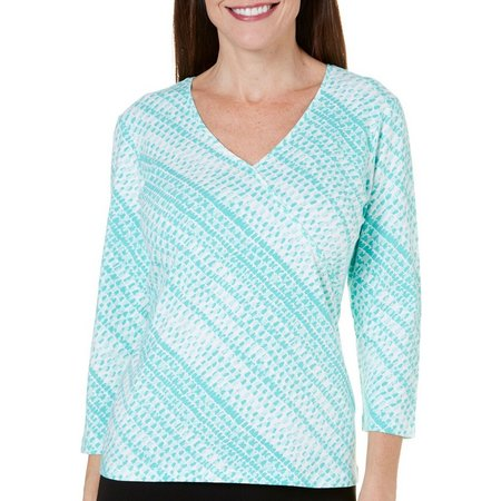 Hearts of Palm Womens Surplice V-Neck Top