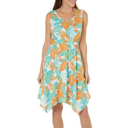 Hearts of Palm Womens Jeweled Neck Island Dress