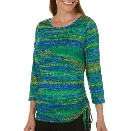 Hearts of Palm Womens Bright Blue Brush Stripe