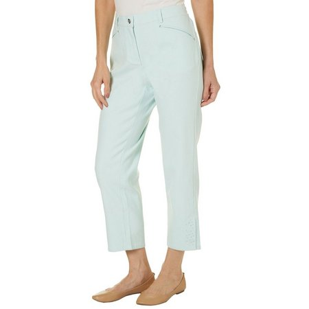 Hearts of Palm Womens Printed Matter Crop Pants