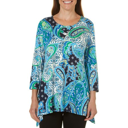 Hearts of Palm Womens Essentials Paisley Top