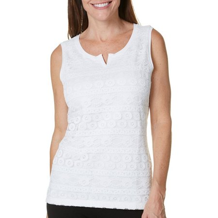 Hearts of Palm Womens Lace Front Tank Top