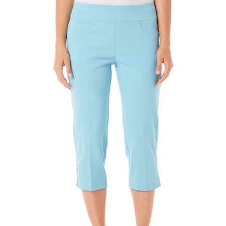 Hearts of Palm Womens Millin Solid Pull-On Capris
