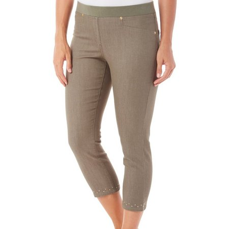 Hearts of Palm Womens Pull-On Embelished Jeggings