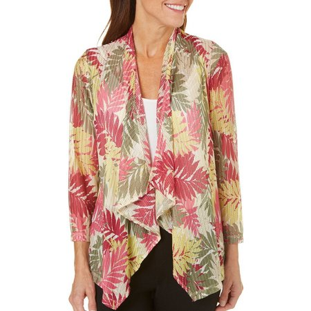Hearts of Palm Womens Berry Fine Fern Cadigan