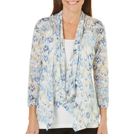 Hearts of Palm Womens Ikat Print Fly Away