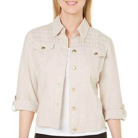 Hearts of Palm Womens Open Weave Shoulder Jacket