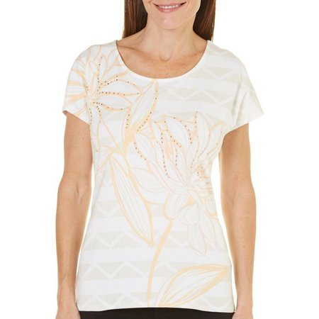 Hearts of Palm Womens Blush Crush Flower Top