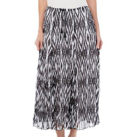 Hearts of Palm Womens Diamond Print Skirt