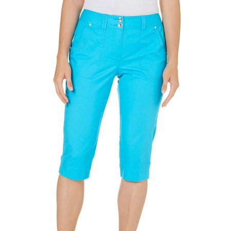 Hearts of Palm Womens Embellished Cargo Capris