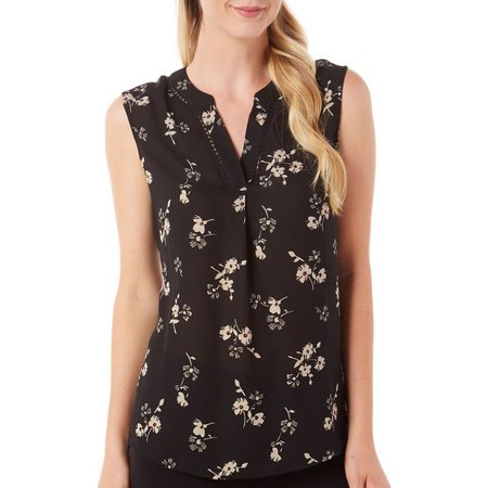 Awesome Womens V-Neck Floral Print Tank Top
