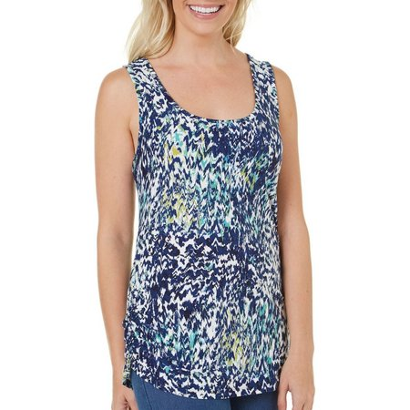 Allison Brittney Womens Ikat Printed tank Top