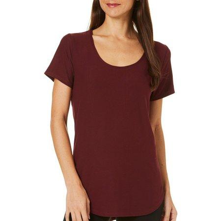Allison Brittney Womens Rounded Hem T-Shirt