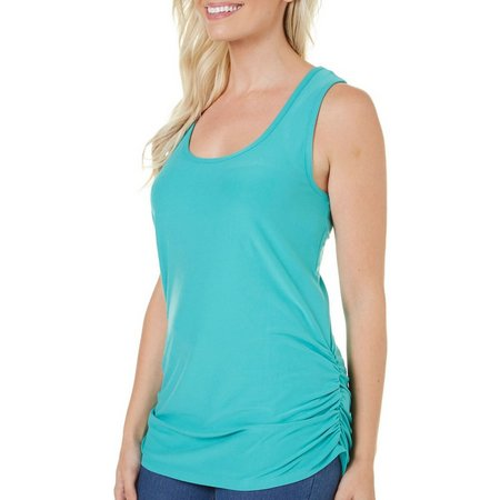 Allison Brittney Womens Solid Tunic Tank Top