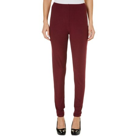 Allison Brittney Womens Solid Leggings