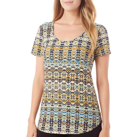 Allison Brittney Womens Print Tunic Top