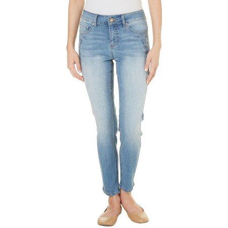 New! Beau Womens Embriodered Denim Pants