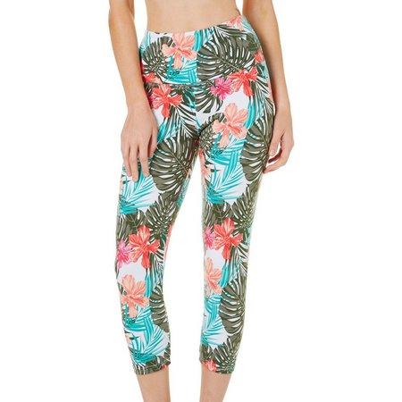 Khakis & Co Womens Tropical Floral Print Capri
