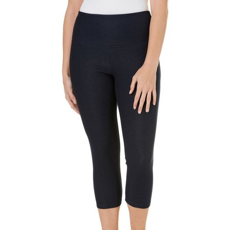Khakis & Co Womens Denim Capri Leggings