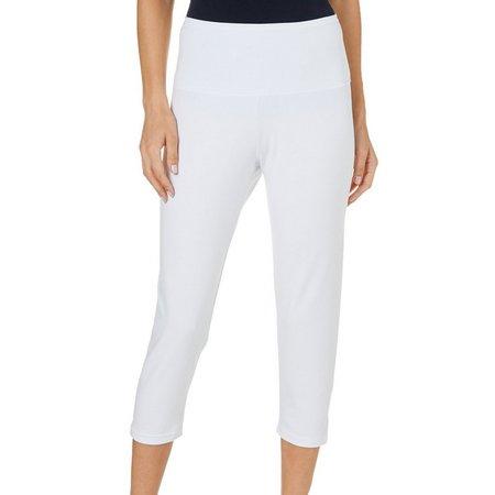 Khakis & Co. Womens Solid Crop Leggings