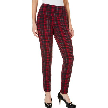 Khakis & Co Womens Plaid Jegging Pants
