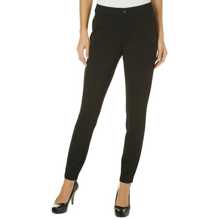 Khakis & Co Womens Solid Double Knit Jegging