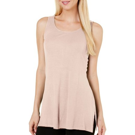 Cable & Gauge Womens Ribbed Zipper Back Tank