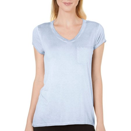 Cable & Gauge Womens Solid Pocket Top
