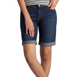 New! Lee Womens Gunnison Denim Bermuda Shorts