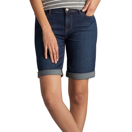 Lee Womens Gunnison Denim Bermuda Shorts