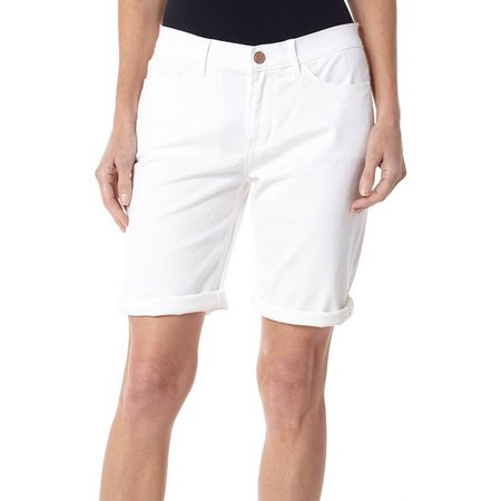 Lee Womens Gunnison Solid Bermuda Shorts
