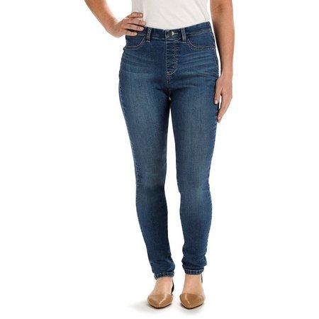 Lee Womens Jade Blue Denim Leggings