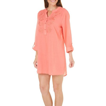 New! Cathy Daniels Womens Gauze Tunic Cover-Up