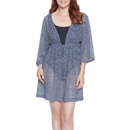 Wearabouts Womens Charming Crochet Tunic Cover-Up