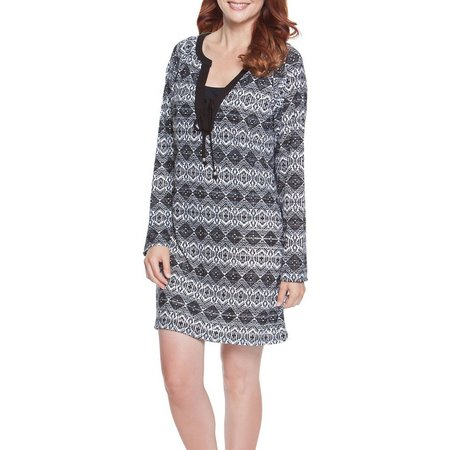 Wearabouts Diamond Daze Tie Front Tunic Cover-Up