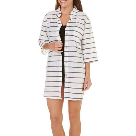 Wearabouts Womens Going Nautical Stripe Cover-Up