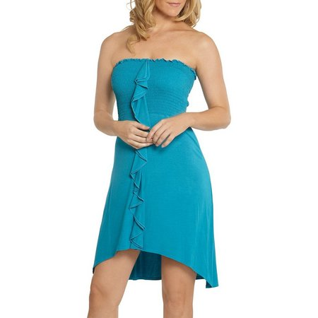 Wearabouts Womens Ocean Ave Smocked Dress Cover-Up