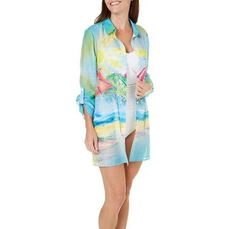 Leoma Lovegrove Womens Gotcha Covered Cover-Up