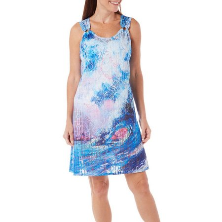 Leoma Lovegrove Womens Tsunami Ring Tank Cover-Up