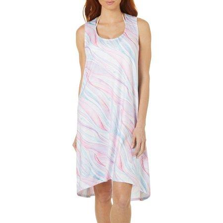Paradise Bay Womens Tie Dye Tank Dress Cover-Up