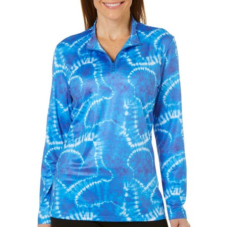 Paradise Bay Womens Tie Dye Pull Over Half