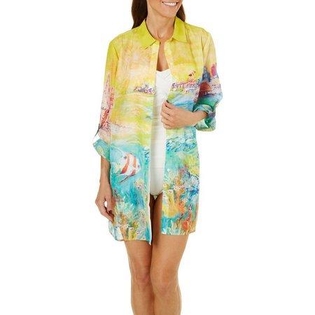 Leoma Lovegrove Womens Florida Fairy Tail Shirt Cover-Up